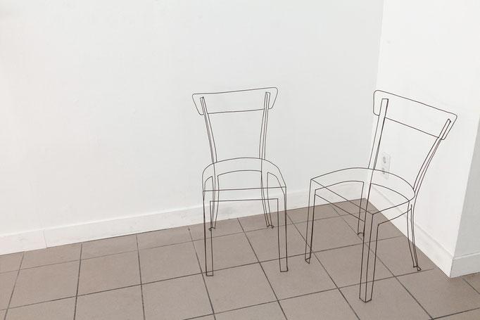 Ulrich Schreiber · Frankfurter Stuhl Auflagenobjekt, Stäbe verschweißt, Auflage 8, 2014