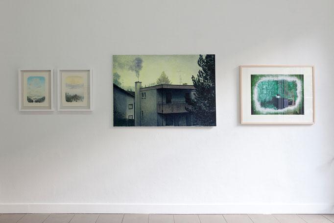 Wieland Payer · Gespinnst, 2012 und Siedlung, 2012 | Thorsten Groetschel · Welten, 2017 | Tilmann Walther · Hütte, 2018