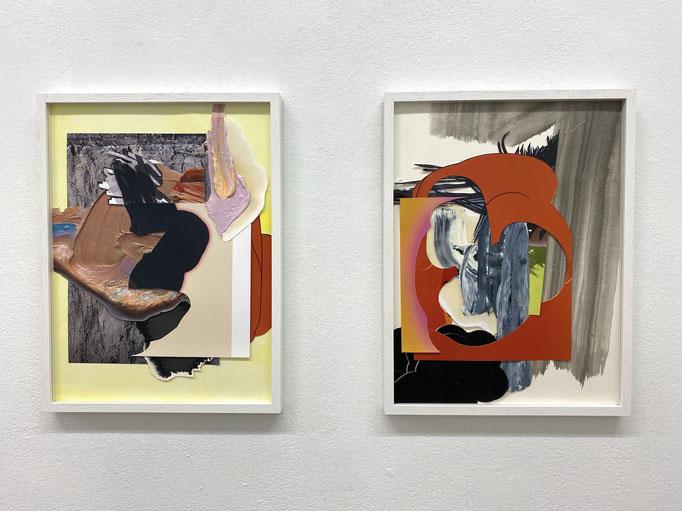 """Maja Rohwetter, """"Gemischte Gefühle # 7 und # 8"""", Collage, 40 x 30 cm, 2020"""