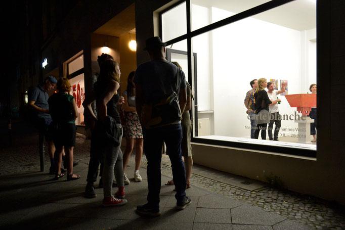 """""""carte blanche"""" · Ausstellungseröffnung"""