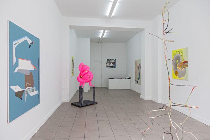 über Malerei · Ausstellungsansicht