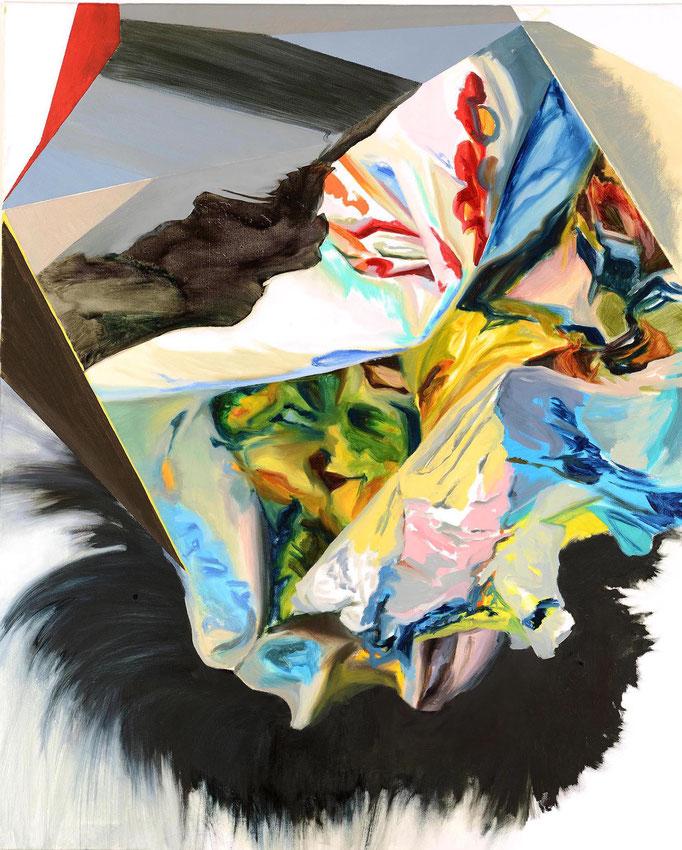 """partial discharge"", 2017, oil on canvas, 100 x 80 cm I (c) Maja Rohwetter VG BildKunst"