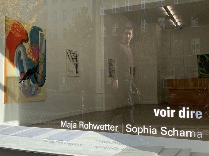 """Voir dire""  Maja Rohwetter and Sophia Schama, Axel Obiger, Berlin"