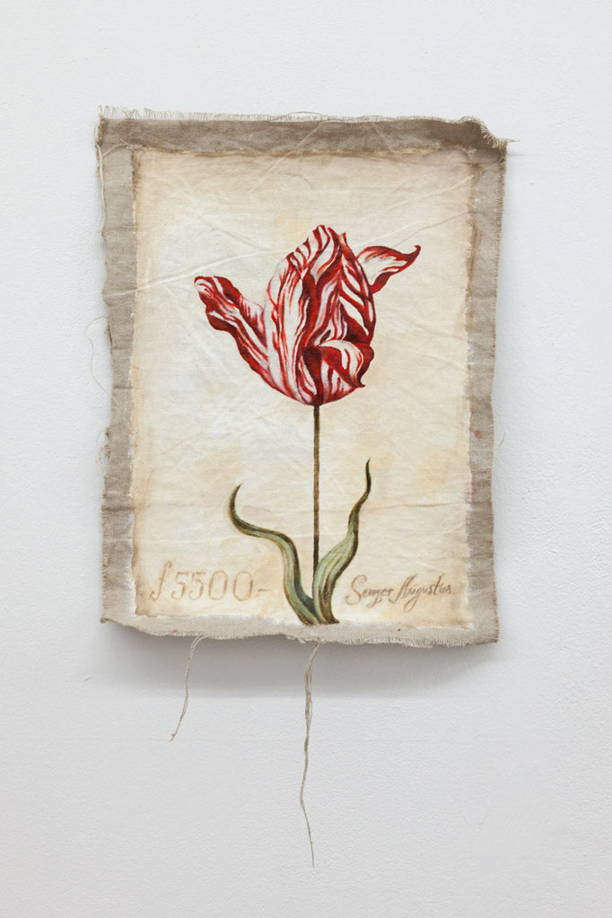 Chris Dreier ·Tulip Mania I (Semper Augustus) Acryl auf Leinwand, 57 x 34 cm, 2015
