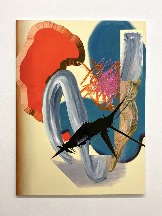 "Maja Rohwetter, ""unobstrusive nuisance"", Öl/Lw, 165 x 120 cm, 2020"