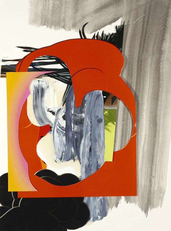 """""""gemischte Gefühle #8"""" 2020, Collage, Öl , Tusche, C-Print, Papier, 40 x 30 cm I (c) Maja Rohwetter VG BildKunst"""