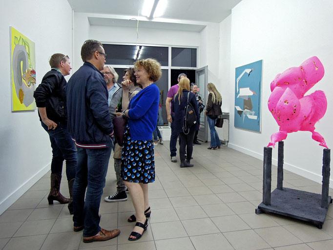 über Malerei · Ausstellungsansicht · Eröffnung