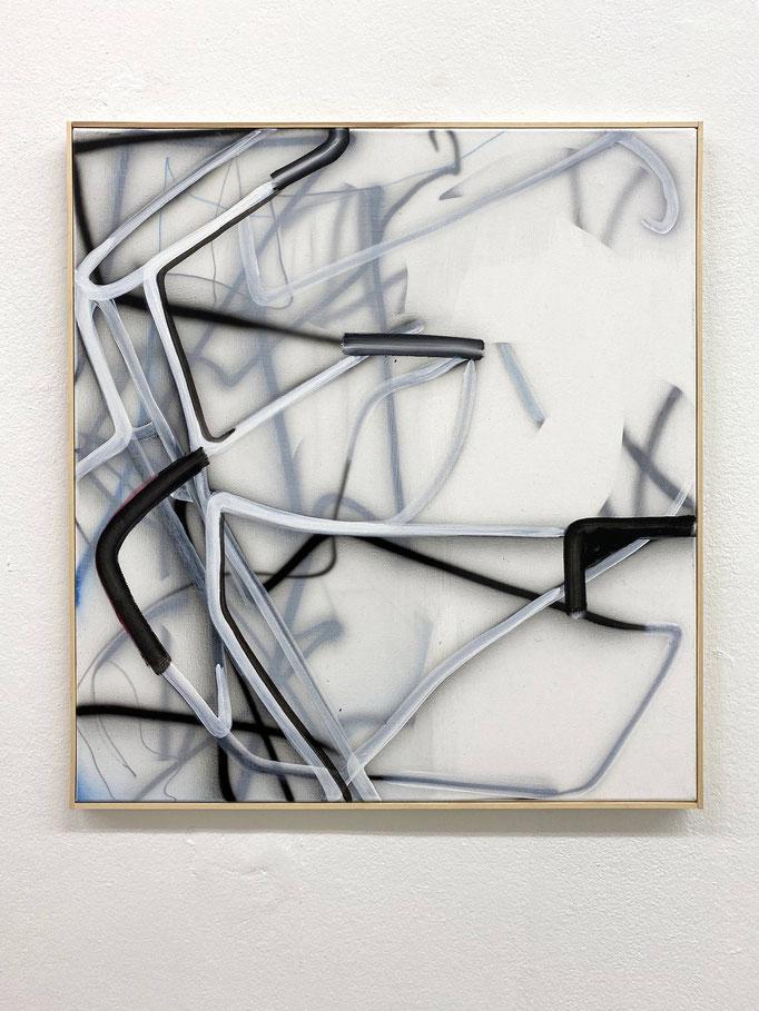 "Sophia Schama, ""M 7520"", Acryl/Lw, 62 x 58 cm, 2019"