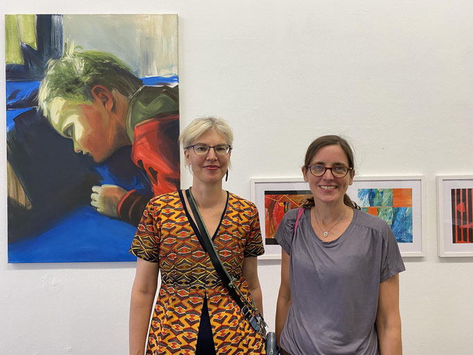 Alke Brinkmann and Ines Doleschal Opening HEART FACTS mothers in art on august 27, 2021