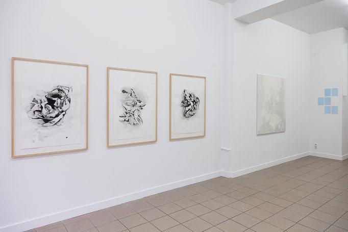 Alke Brinkmann: Patterns of Mankind I, II, III; 6.8.1945, Hiroshima; Falling men