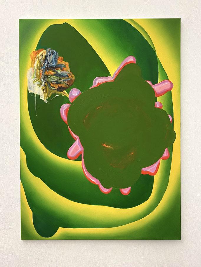 "Maja Rohwetter, ""encapsulated epitome"", Öl/Lw, 110 x 80 cm, 2020"