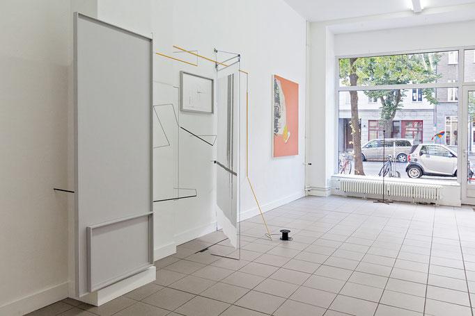 "Harriet Groß · Odradek, 2018 | Michael Bause · o.T., 2018 | Francis Zeischegg · ""Focussing Grids"", 2018"