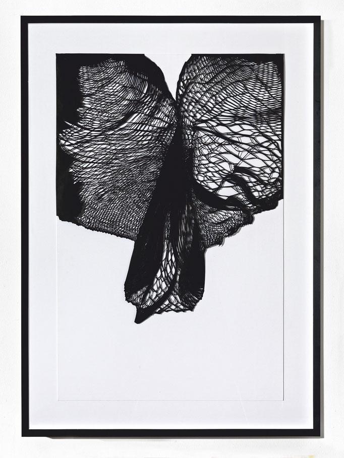 Schwelle III, 2014, Metall Cutout, 135 x 95 cm