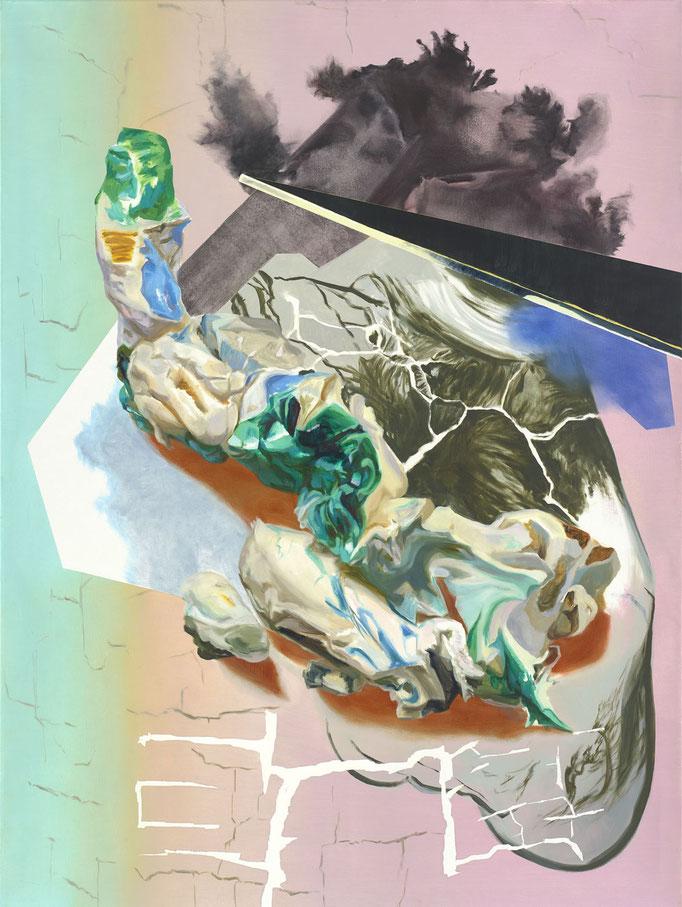 """pending elevation"" 2019, oil on canvas, 160 x 120 cm I (c) Maja Rohwetter VG BildKunst"