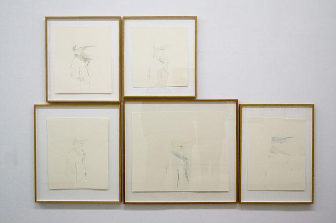 """Gabriele Worgitzki · aus der Serie """"begehbare Räume"""", Tusche auf Papier, 2014"""