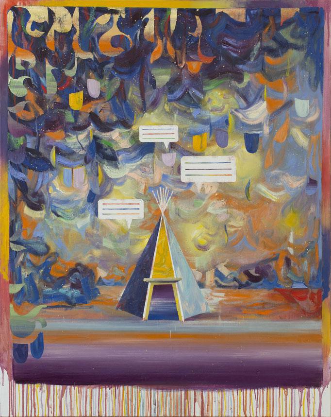 """""""Tipi"""", Öl/Lwd, 120 x 95 cm, 2020"""