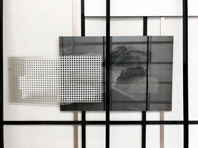 "Harriet Groß ""Gischt"" (Detail), 2019, Installation, diverse Materialien, ca. 220 x 270 x 40 cm"