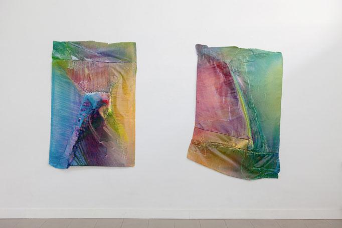 Cross Section VI, ca. 170 x 115 x 10 cm, 2017 | Cross Section I, ca. 170 x 115 x 10 cm, 2017
