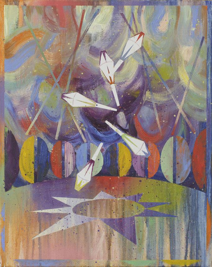 """""""Jonglage"""", Öl/Lwd, 50 x 40 cm, 2020"""