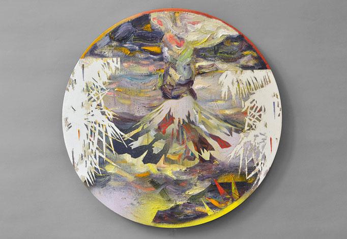 """Tambora I"", Öl/Lack auf Leinwand, 60 x 60 cm, 2017"