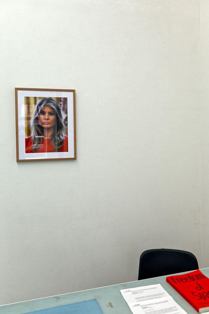 "finnfemfel · ""Lost Slovenian female"" digital C-print, 50 x 40 cm, 2017"