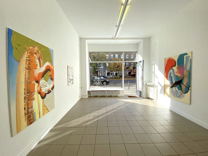 "Ausstellungsansicht ""Voir dire"" Maja Rohwetter und Sophia Schama I Axel Obiger, Berlin"