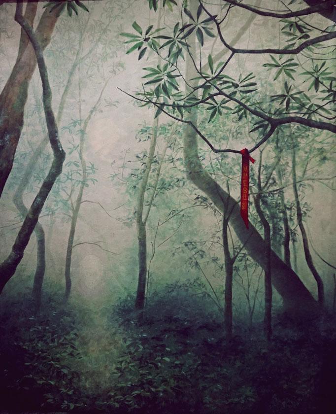 """Vorderseite """"Waldlichtung"""", 2,50 x 3,15m (nur Vorderseitenlicht) /// Frontside """"forest glade"""" (only front light)"""