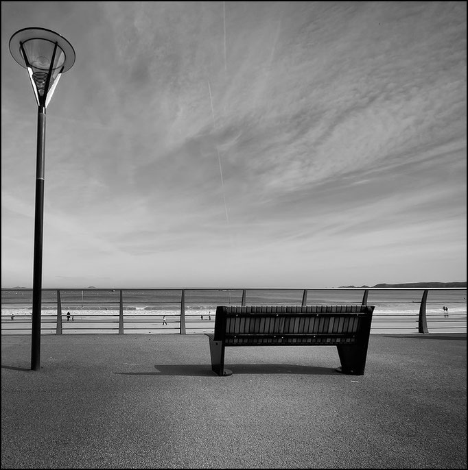 le banc et la lampe | perros-guirec, 2010