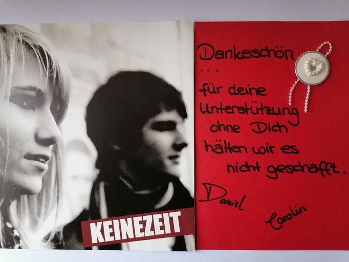 """Carolin und Daniel von """"KEINEZEIT"""", heute """"Glasperlenspiel"""""""
