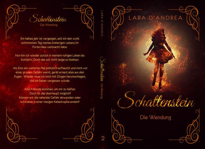 Buchcover Design Fantasy Buchreihe Cover E-Book Printcover Schattenstein Mädchen Nebel Gestaltung Grafikdesign Grafiker