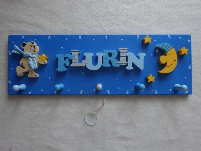 Bär stehend mit Stern - NAME - Mond und 3 Sterne