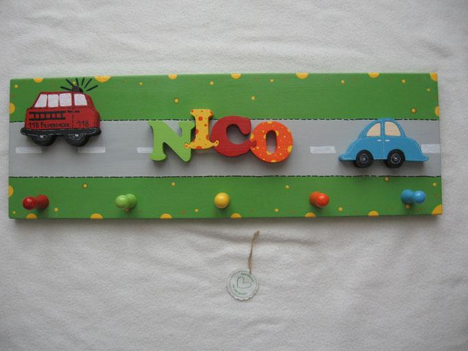 Feuerwehrauto MATRA - NAME - Auto mit Strassengrundplatte