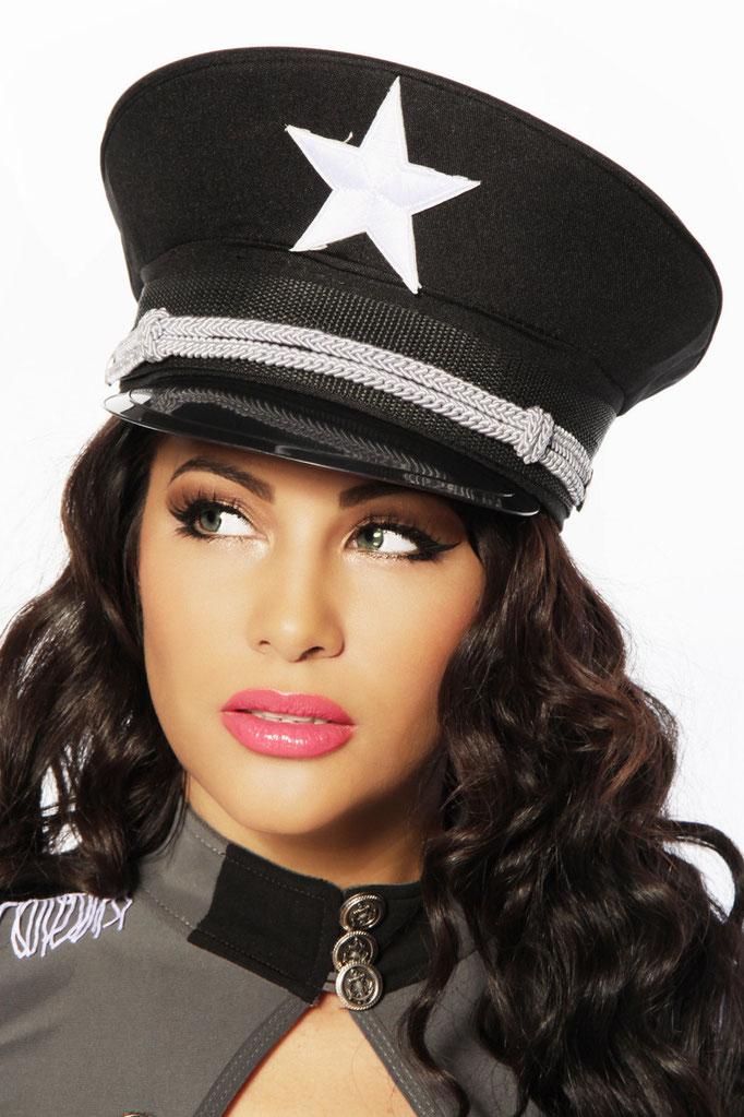 Offiziers-Mütze schwarz