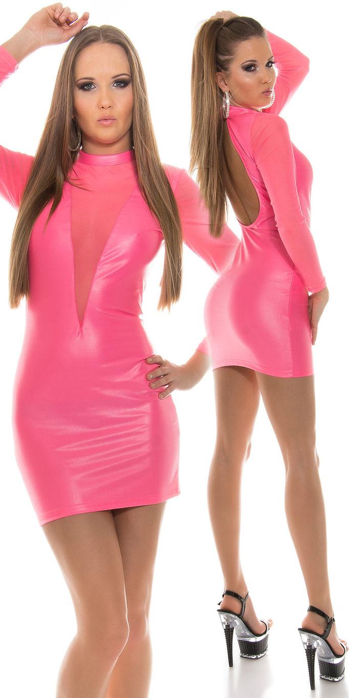 Minikleid Neon-Pink