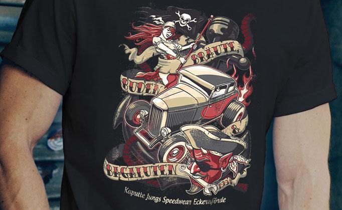 Bräute, Buden & Bagaluten - Shirt Design für Kaputte Jungs Speedwear GbR, Eckernförde