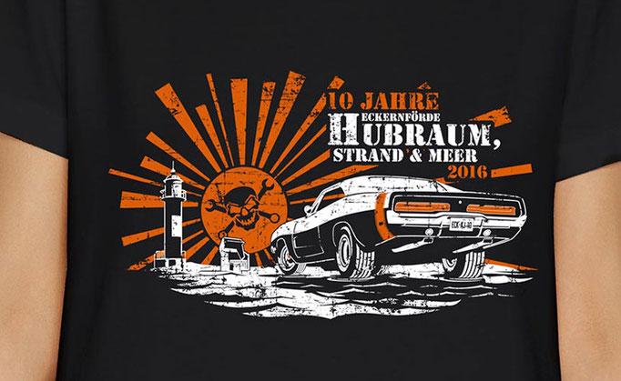 Hubraum, Strand & Meer 2016 - Shirt Design für Kaputte Jungs Speedwear GbR, Eckernförde