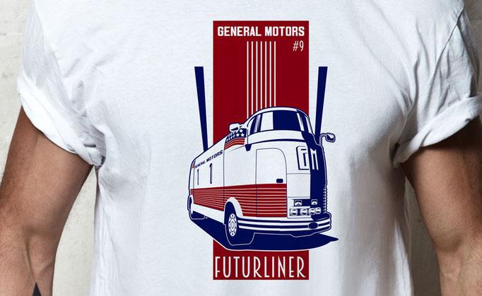 Futurliner #9 - - Shirt Design für ChromeCars GmbH