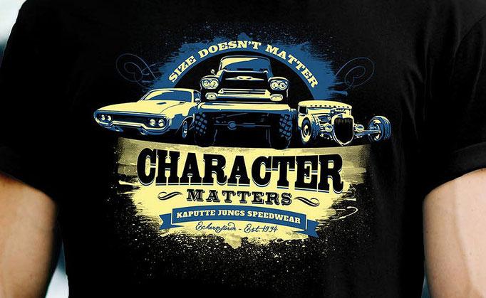 Character Matters - Shirt Design für Kaputte Jungs Speedwear GbR, Eckernförde