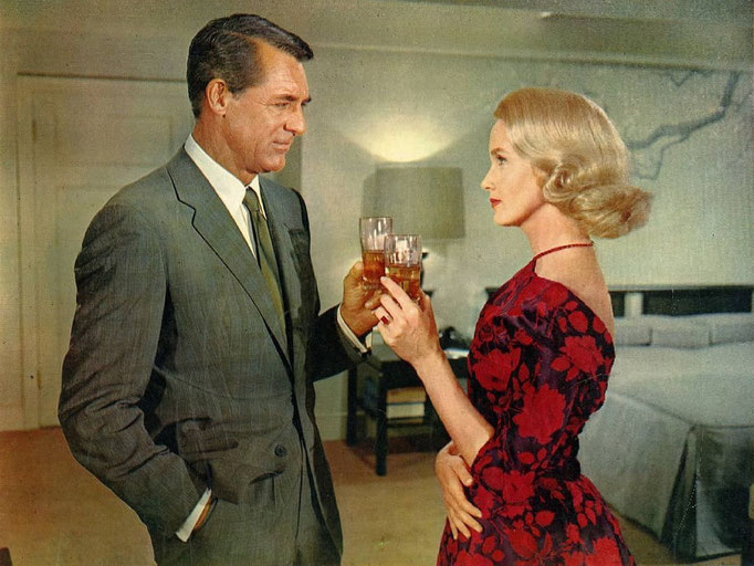 """""""Con la muerte en los talones"""" Eva Marie Saint y Cary Grant"""