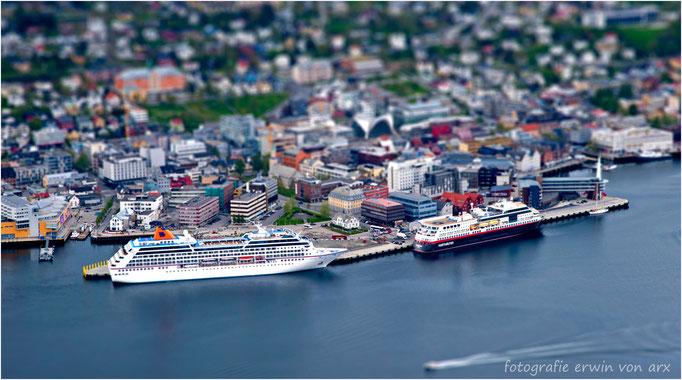 Hafen in Tromso, Norwegen