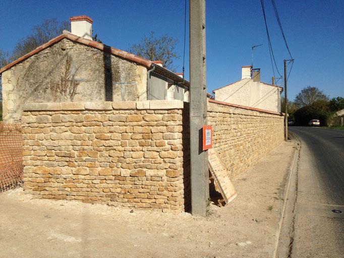 rénovation mur de clôture Luçon