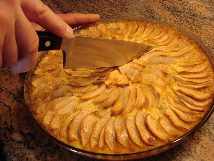 La tarte aux pommes, simplement.
