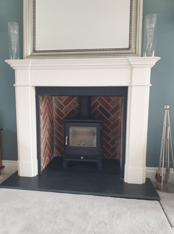 Old Fulford Blend Fireplace Chamber in Herringbone Pattern