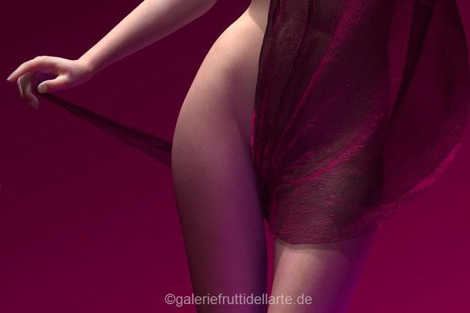 Kunst Aachen, Galerie Frutti dell'Arte, Akt mit Tuch von vorne 8