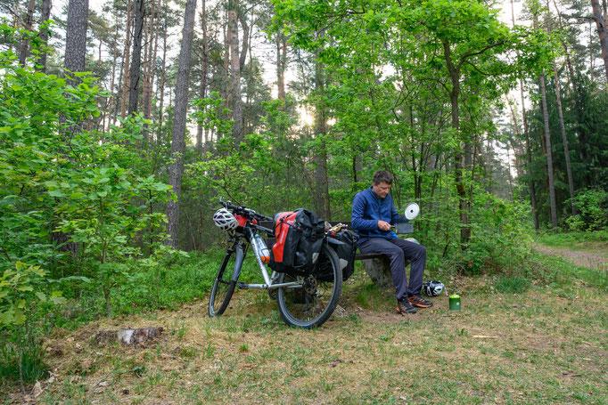 Rastplatz im Wald