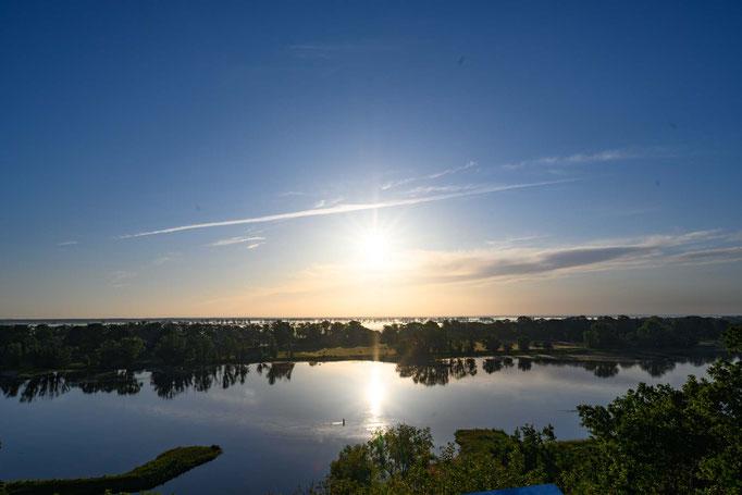 wunderschöner Sonnenaufgang von der Aussichtsplattform