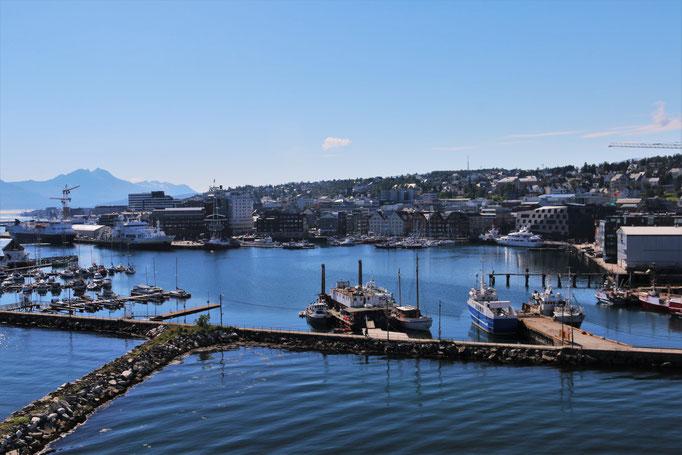 Der Hafen von Tromsø/ the harbour of Tromsø