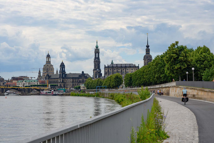 Elberadweg nach Dresden