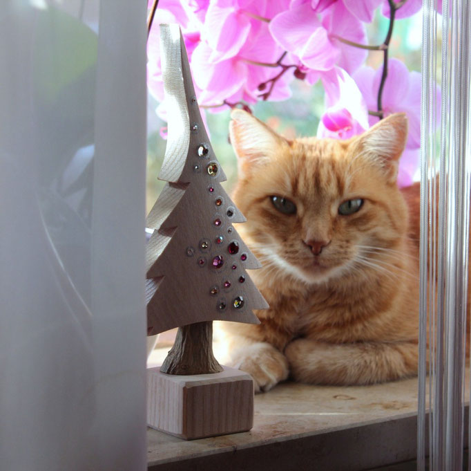 Katzi mit Mosaik Mini Freudenbaum