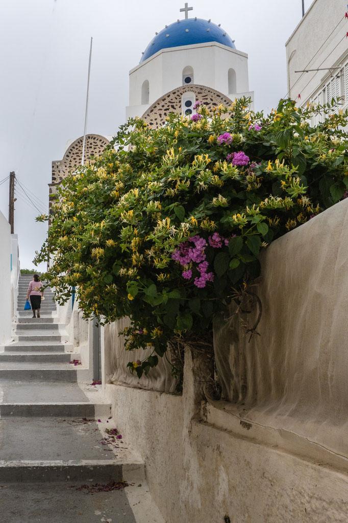 Agios Dimitros, Messaria, Santorin, Mai 2017